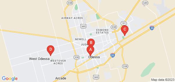 Google static map for Odessa