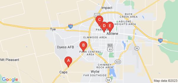 Google static map for Abilene