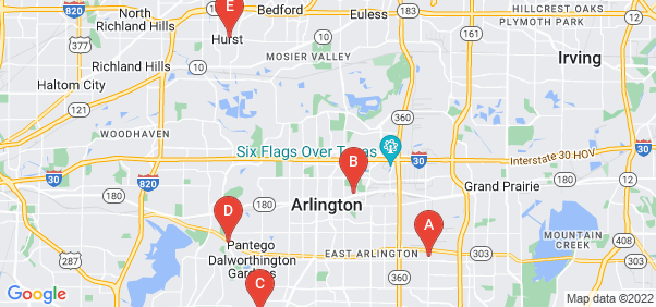 Google static map for Tarrant County