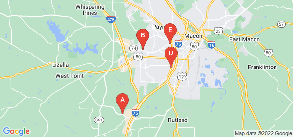 Google static map for Macon