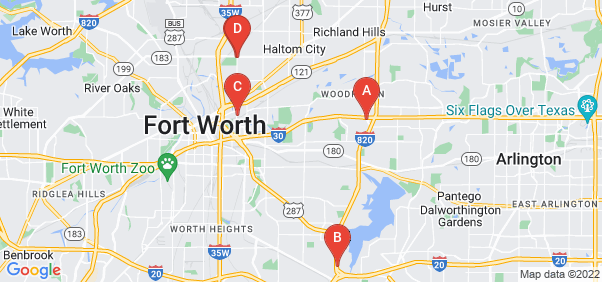 Google static map for Fort Worth