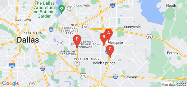 Google static map for Dallas County