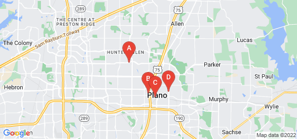 Google static map for Plano