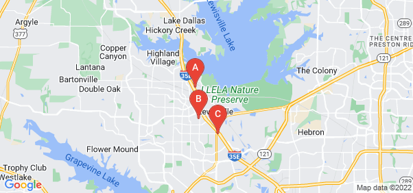 Google static map for Lewisville