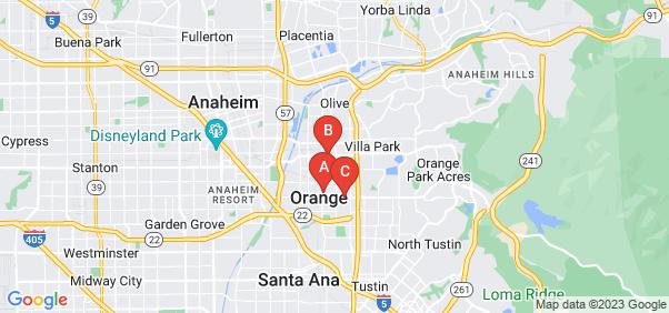 Google static map for Orange