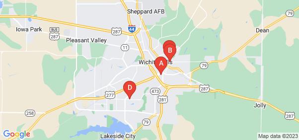 Google static map for Wichita Falls