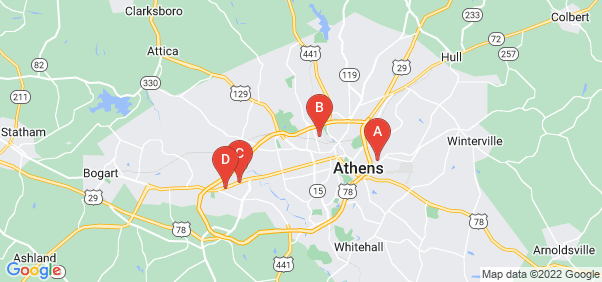 Google static map for Athens
