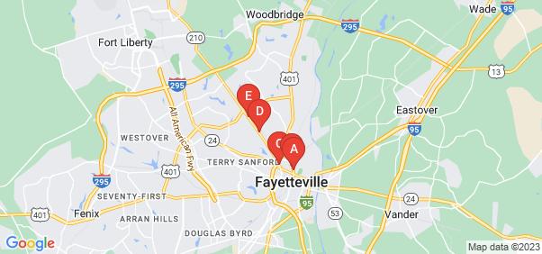 Google static map for Fayetteville