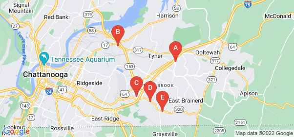 Google static map for Hamilton County