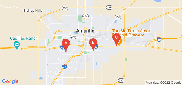 Google static map for Potter County