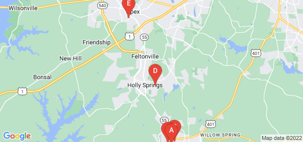 Google static map for Wake County