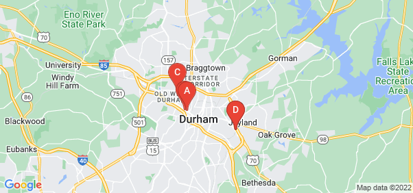 Google static map for Durham