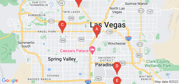 Google static map for Las Vegas