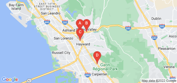 Google static map for Hayward