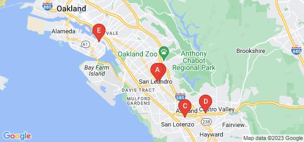 Google static map for Alameda County