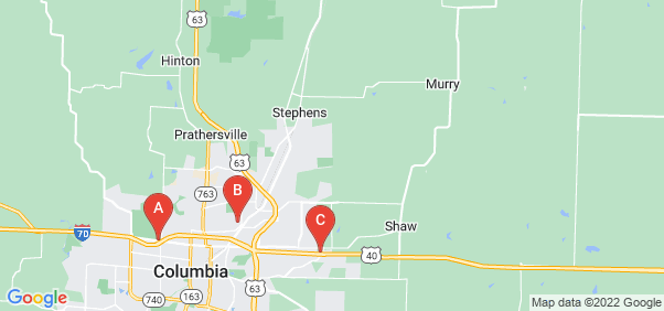 Google static map for Boone County