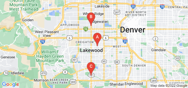 Google static map for Lakewood