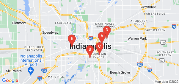 Google static map for Indianapolis