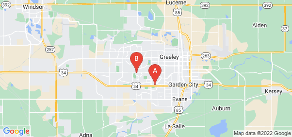Google static map for Greeley