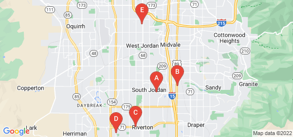 Google static map for Salt Lake County