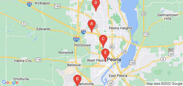 Google static map for Peoria County