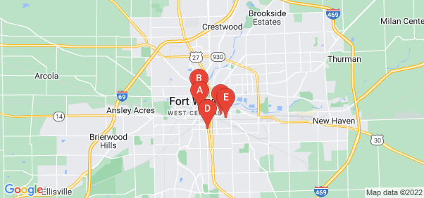 Google static map for Fort Wayne