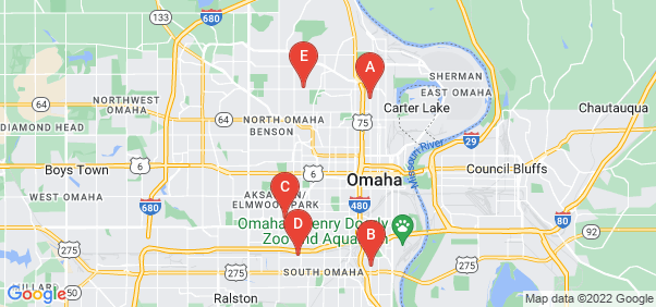 Google static map for Douglas County