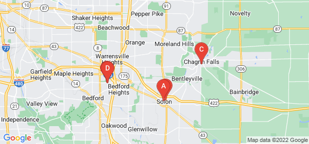 Google static map for Cuyahoga County