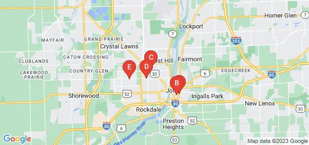 Google static map for Joliet