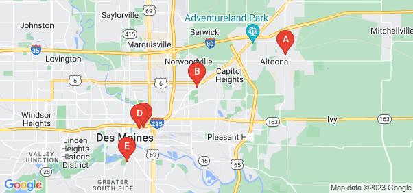 Google static map for Polk County