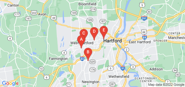 Google static map for Hartford