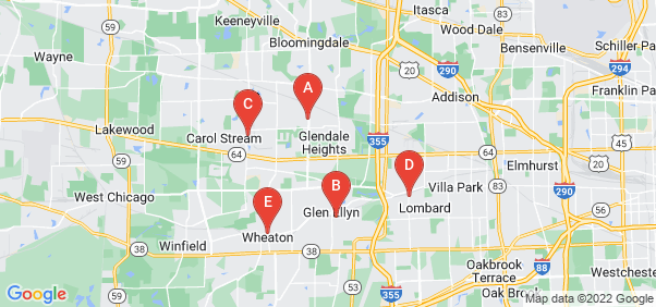 Google static map for Dupage County
