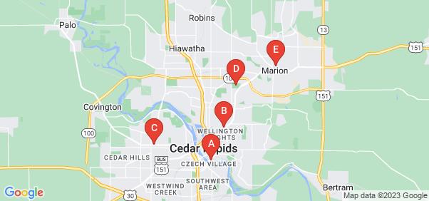 Google static map for Linn County