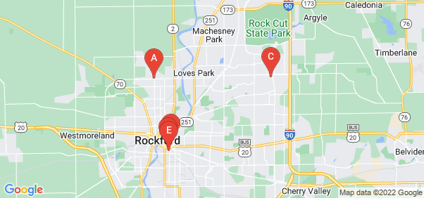 Google static map for Rockford