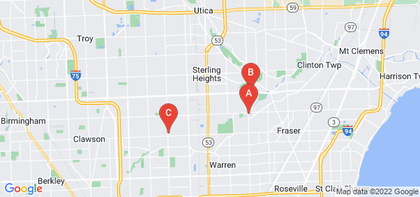 Google static map for Sterling Heights