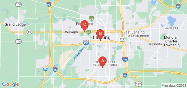 Google static map for Lansing