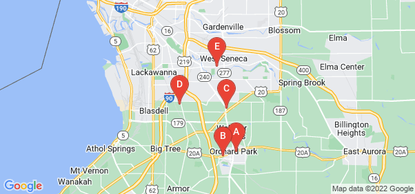 Google static map for Erie County