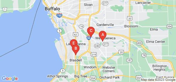 Google static map for Buffalo