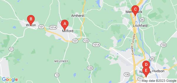 Google static map for Hillsborough County