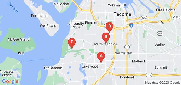 Google static map for Tacoma