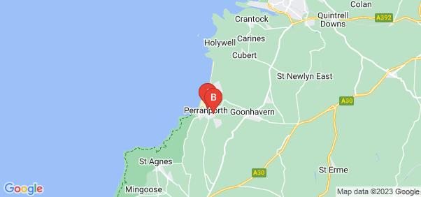 Google static map for Perranporth