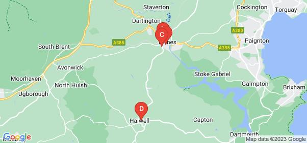 Google static map for Totnes