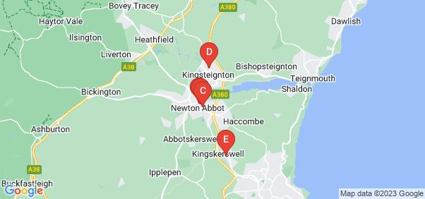 Google static map for Newton Abbot