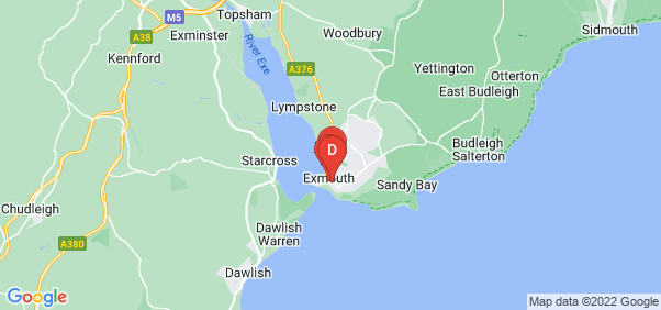 Google static map for Exmouth