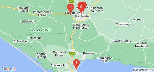 Google static map for Dorset