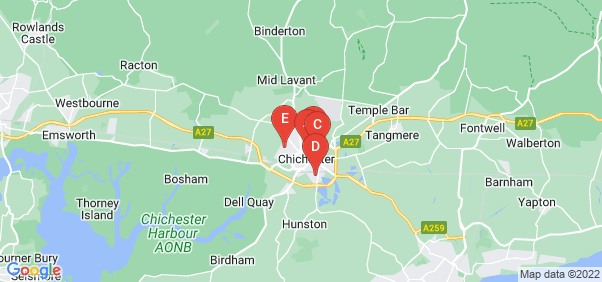 Google static map for Chichester