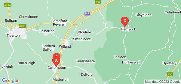 Google static map for Cullompton