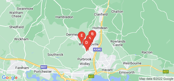Google static map for Waterlooville