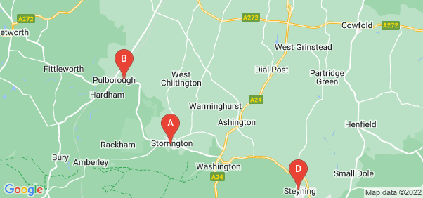 Google static map for West Sussex
