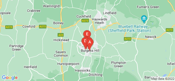 Google static map for Burgess Hill